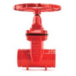 Resilient seated NRS gate valve grooved end