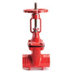 Resilient seated OS&Y gate valve-grooved end